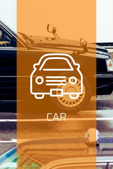 車、タクシーでの来店
